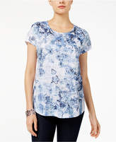 Style and Co Petite Printed Burnout Top, Created for Macy's