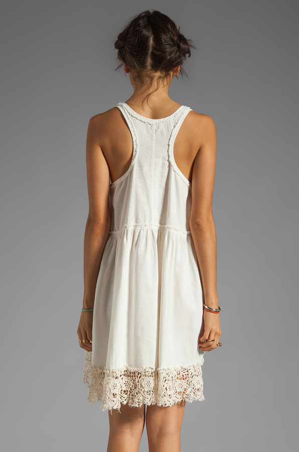 Free People Linen Babydoll Dress