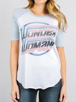 Junk Food Clothing Wonder Woman Tee Short Sleeve Raglan-ew/mb-m
