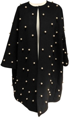 Edward Achour Black Wool Coat for Women