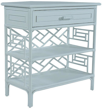 David Francis Furniture Chippendale Side Table - Light Blue