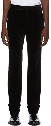 Ralph Lauren Purple Label Black Velvet Gregory Trousers