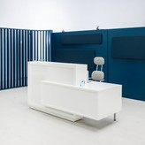 Said Rectangular Reception Desk Orren Ellis Color: White