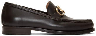 Salvatore Ferragamo Brown Rolo Loafers