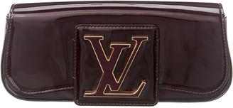 Louis Vuitton Burgundy Monogram Vernis Leather Pochette Sobe