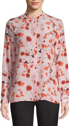 HUGO Floral Silk Blouse