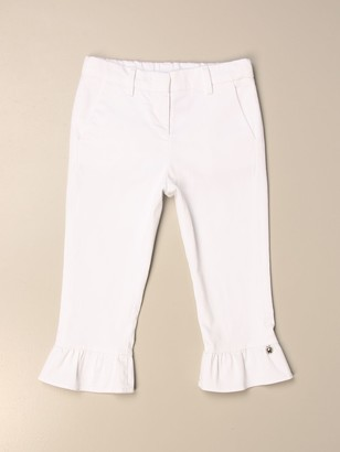Simonetta Trousers With Cotton Rouches