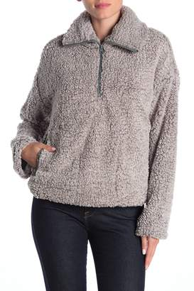 Thread And Supply Harper Faux Shearling Zip Front Pullover