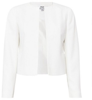 Dorothy Perkins Womens Dp Petite Ivory Cropped Tailored Jacket