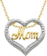 SPARKLE ALLURE Classic Treasures Diamond-Accent Mom Heart Pendant Necklace