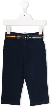 Polo Ralph Lauren belted fitted chinos