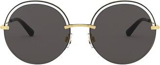Dolce & Gabbana Eyewear Cut-Out Detail Round Sunglasses