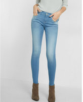 Express light wash mid-rise jean legging