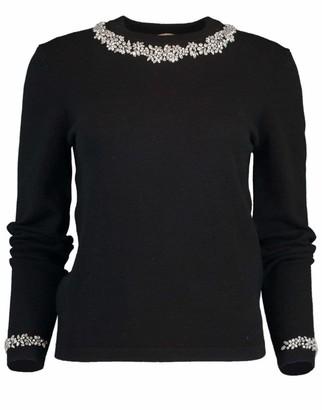 Michael Kors Collection Crystal Necklace Crewneck