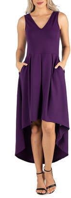 24/7 Comfort Apparel 24/7 Comfort Dress Sleeveless High Low Dress
