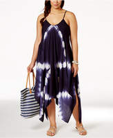 Raviya Plus Size Tie-Dye Handkerchief-Hem Cover-Up Dress