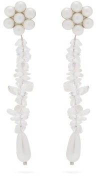 Shrimps Douglas Faux-pearl & Crystal Drop Earrings - Clear