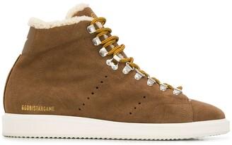 Golden Goose shearling sneaker boots