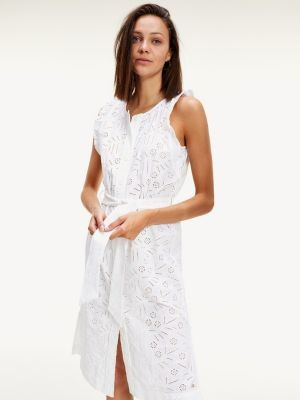 Tommy Hilfiger Broderie Anglaise Sleeveless Dress