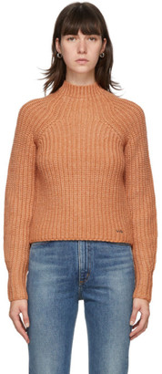 Victoria Victoria Beckham Orange Bell Sleeve Sweater