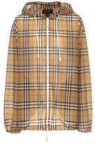 Burberry Checked hooded jacket