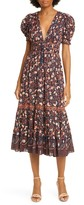 Ulla Johnson Zaria Floral Midi Dress