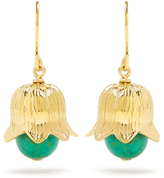 Aurelie Bidermann Lily of the Valley gold-plated earrings
