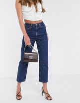 Asos Design DESIGN Recycled Florence authentic straight leg jeans in indigo