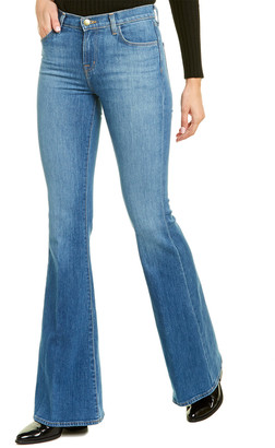 J Brand Valentina Endeavor High-Rise Flare Leg Jean