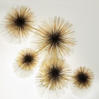 Jonathan Adler C. Jere Brass Urchin Sculpture Wall Art