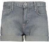 Current/Elliott The Boyfriend Striped Denim Shorts