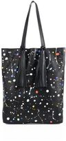 Loeffler Randall Cruise Tassel Splatter Paint Leather Tote