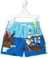 Dolce & Gabbana pirate print swim shorts