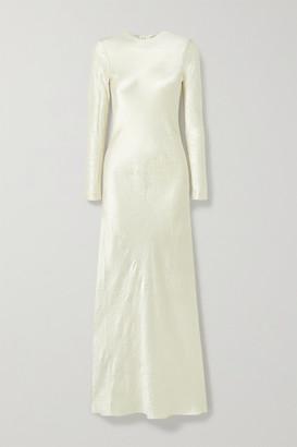 Co Crinkled-satin Maxi Dress - Cream