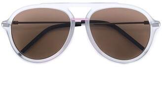Fendi Thick Frame Aviator Sunglasses