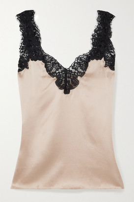 CAMI NYC The Leia Lace-trimmed Silk-charmeuse Camisole - Pink