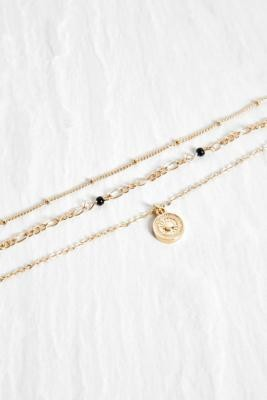 Urban Outfitters Beaded Multi-Layer Choker Necklace - Assorted ALL at