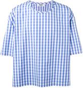 MSGM gingham T-shirt - men - Cotton - 46