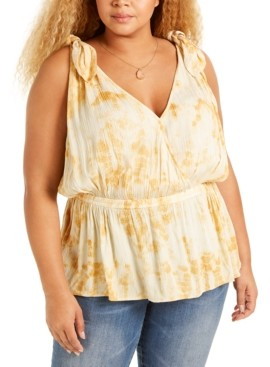 Band of Gypsies Trendy Plus Size Peplum Tank Top