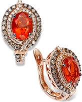 LeVian Le Vian Fire Opal (1-1/5 ct. Chocolate (1/2 ct. t.w.) and White Diamond (1/4 ct. t.w.) Earrings in 14k Rose Gold