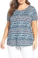 Sejour Plus Size Women's Shirttail Hem Tee