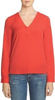 1 STATE 1.STATE Deep V Crossover Blouse