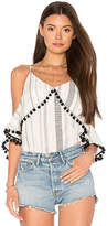 Line & Dot Sandra Pom Pom Top in White. - size S (also in )