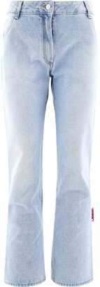 Off-White High-Waisted Cropped Jeans
