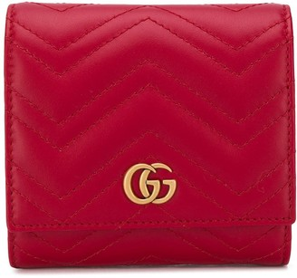 Gucci small quilted GG wallet