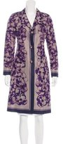 Celine Silk Floral Print Coat
