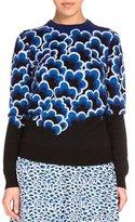 Kenzo Wool Popcorn Jacquard Pullover Sweater, Cobalt