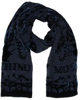 Moschino Velvet Abstract Print Scarf