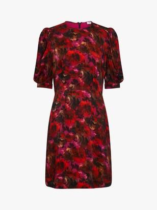 Ghost Ismay Floral Mini Dress, Elva Poppy