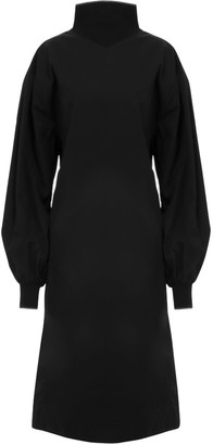 A Line Clothing Long Straight Fit Black Dress